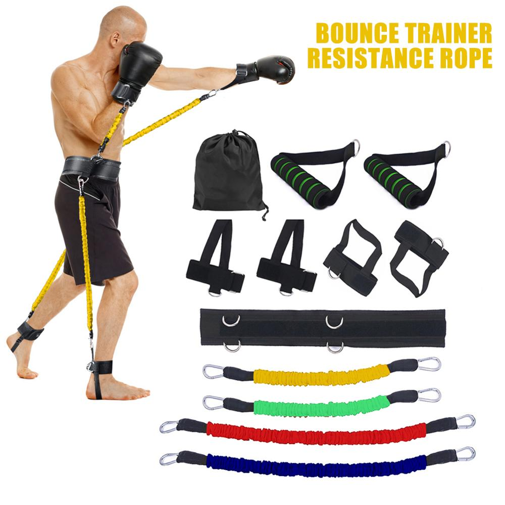 Resistance Band Boxing Muay Training Stretching Strap Set Gym Workout Fintess Exercises Waist Leg Strength Training Belt