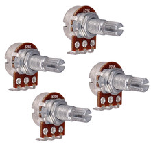 Потенциометр с раздельным валом для электрогитары, 25 к, для громкости и тона, с потенциометром 18 мм