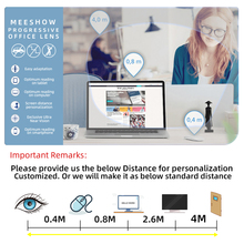 1.56 1.61 Office Progressive Lens with Large and Wide Area for Intermediate Distance Computer anti-blue Lenses Multifocal Large
