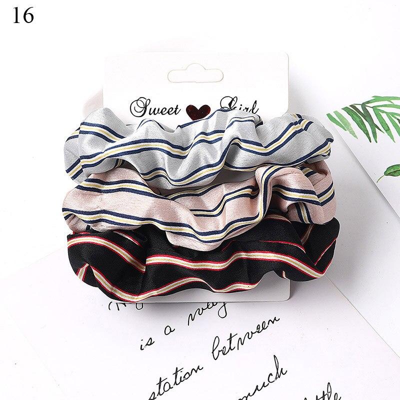 1 комплект резинки для волос кольцо для волос карамельного цвета Веревка для волос осень-зима женский хвостик аксессуары для волос 4-6 шт. ободки для девочек Подарки - Color: A16