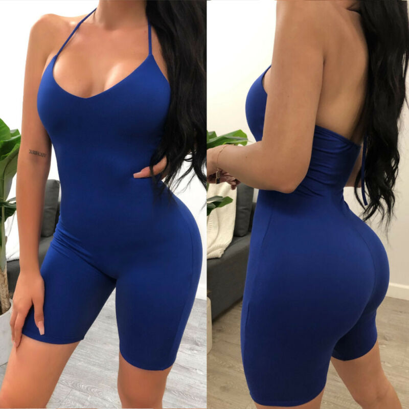 Slim Fitted Solid Tube Romper Halter Neck Streetwear Female Short Jumpsuits 2019 Summer Women Bodycon Black Stretch Playsuits