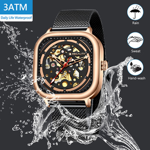 Image 5 - MEGALITH 2019 New Arrivals Top Brand Automatic Mechanical Watch Men Fashion Casual Waterproof watch Man Clock Relogio Masculino