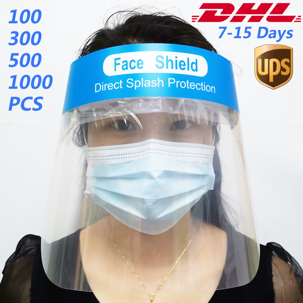 Safety Face Shield Reusable Full Face Transparent Breathable Windproof Dustproof Hat Shield To Protect Eyes And Face DHL