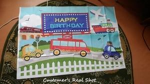 Image 4 - Yeele Transportation Bus Car Airplane Ship Birthday Photography Backgrounds Customized Photographic Backdrops for Photo Studio