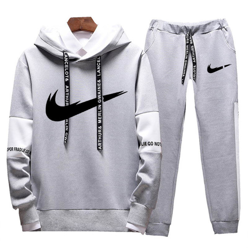 Men's Sets Fashion Streetwear Hoodies Set Suits Hit Color Mosaic Stars Sweater Sweatsuit Mens Track Suit Set Men Clothes 2019