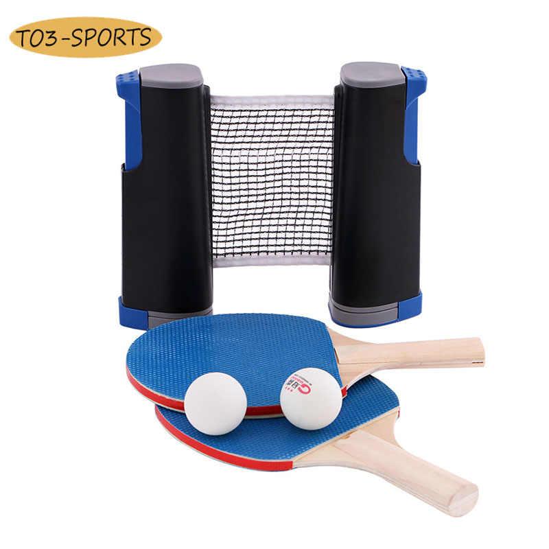 Équipement de sport d'étudiant de Ping-Pong de filet de maille de lame de raquette de jeu d'entraînement professionnel de Ping-Pong Simple portatif