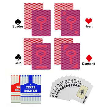 цена на marked playing card for Contact lenses PVC Anti Cheat Poker Cards Texas Holdem Anti cheat board game Magic Card