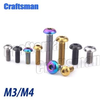 Tornillos de titanio Ti para manualidades, M3, M4, x 6, 8, 10,...
