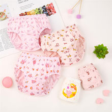 5 Pcs/lot Kids Girls Briefs Cotton Children Underwear Fashion Little Girls Printed Underpants Triangle Panties