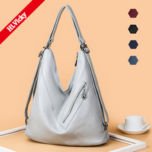 2019 brand high quality soft PU leather large pocket casual handbag womens Gray shoulder bag capacity handbags