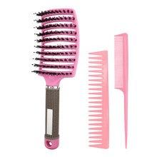 Ensemble de 3 brosses démêlantes pour cheveux bouclés, accessoires de barbier, soins capillaires