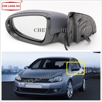 Left For VW Golf 6 A6 MK6 2009 2010 2011 2012 2013 Car-styling Rear Electric Adjustable And Heated Mirror With Turn Singal Light