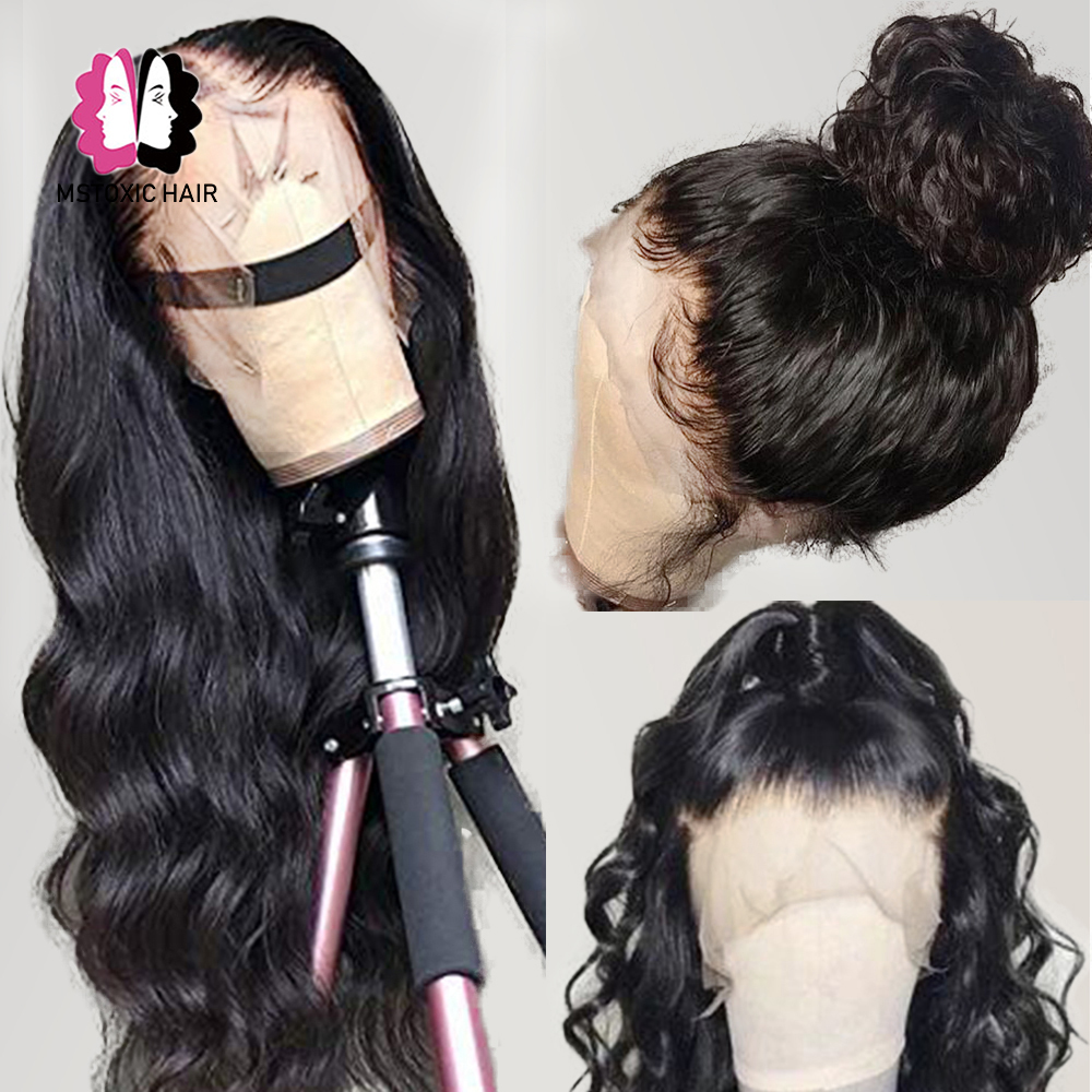 HD שקוף 13x4 גוף גל תחרה מול שיער טבעי פאות עבור נשים 360 תחרה פרונטאלית פאה 30 אינץ ברזילאי 5x5 סגירת פאה Mstoxic