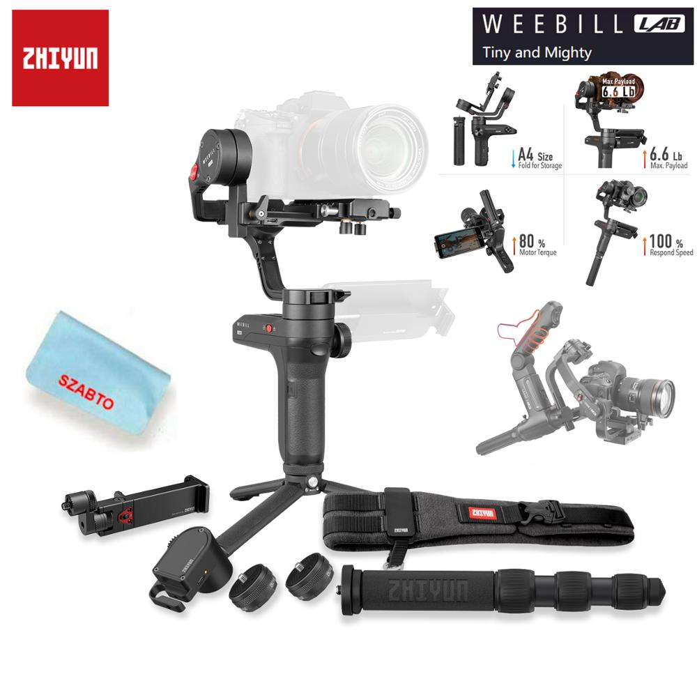 Zhiyun Weebill LAB 3 Axis Wireless Image Image Transmission Camera Stabilizer for Mirrorless Camera OLED Display