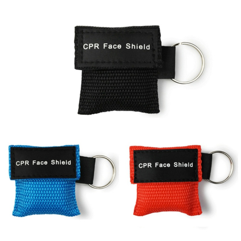 1pcs CPR Masks Cpr Face Shields Mouth To Mouth Breathing Mask Training Aed For Outdoor Camping Hiking Safety And Survival