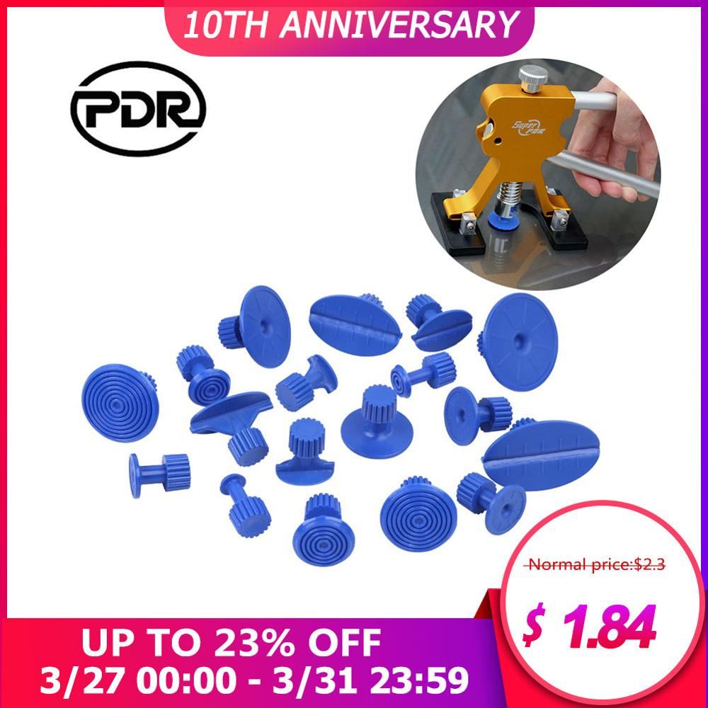 PDR 18 Pcs Car Paintless Dent Repair Puller Tools Glue For Slices DIY Hand Tools Kit Suction Cups Use For Remove Hail Pits Sets