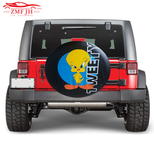 "14"" 15"" 16"" 17"" Inch PVC Leather Spare Tire Cover Case Protector Bag Pouch For Mitsubishi Pajero Ford Ecosport Skoda Yeti"