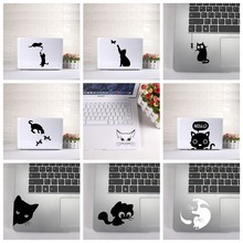 Cute Cat laptop Sticker Vinyl stickers Decal for MacBook Air Retina laptop Skin decoration keyboard decals(China)