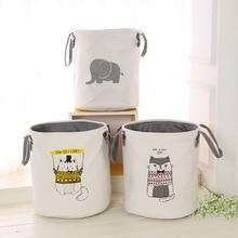 HIFUAR Linda cesta de la ropa de animal plegable Almacenamiento de juguete picnic ropa sucia cesta caja de algodón lavar ropa caja organizador de bebé