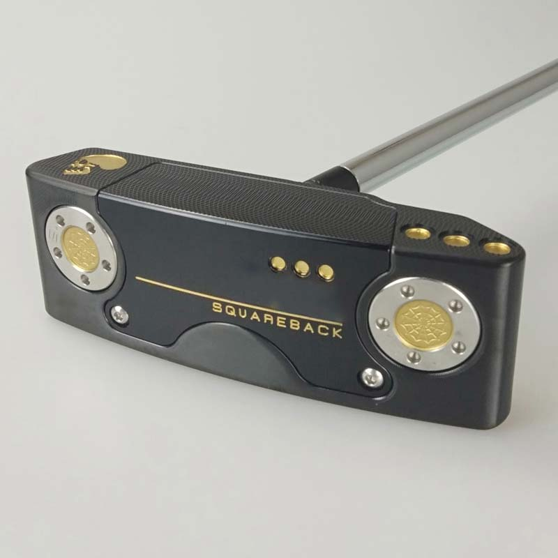 Golf Putter 2018 SQBACK Black Strip Shape Putters Gold Skull Steel Shaft With Rod Cover Free Shipping