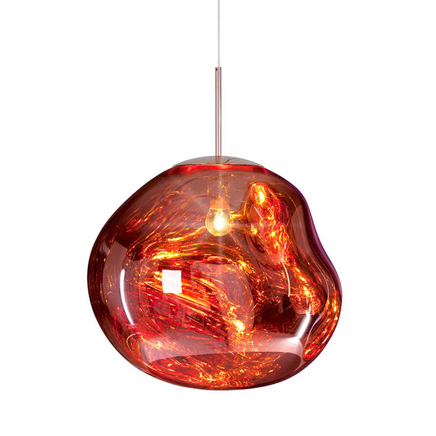 Modern LED Glass Ball Pendant Lamps Nordic Bedroom Chandeliers DIXON Melt Lava Hanglamp Light Fixure JW Hanging Ceiling Lamps