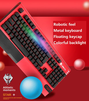 Waterproof Mechanical Keyboard 104 Keys Switch Gaming Keyboard RGB LED Light Wired USB Keyboard