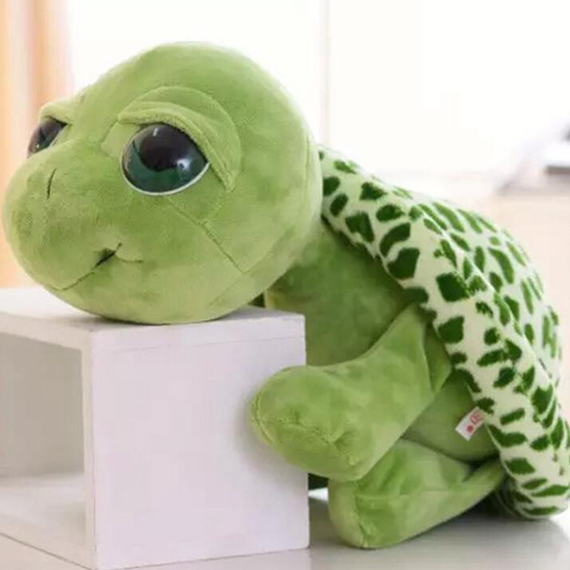 Cute Stuffed Plush Animals Doll Super Green Big Eyes Stuffed Tortoise Turtle Animal Plush Baby Toy Gift