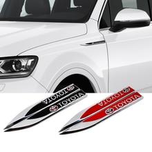 For Toyota 4Runner Yaris Camry Corolla RAV4 Reiz Avensis Auris Sequoia Car Styling Side Fender Sticker Emblem Badge Accessories