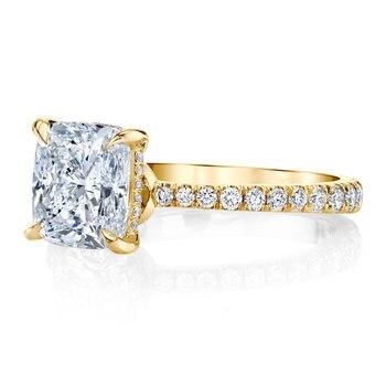 Luxury Solid 14K Gold Moissanite Engagement Ring for Women 5