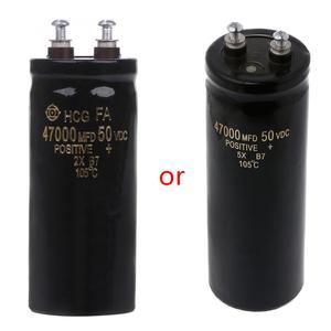 Image 1 - 50 v 47000 uf/mfd アルミねじオーディオフィルタリング電解コンデンサ 105 摂氏ドロップシップ