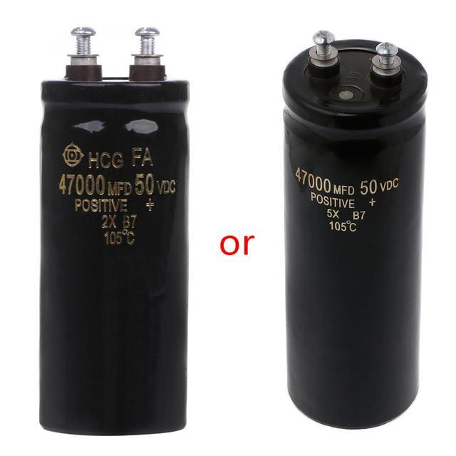 50 v 47000 uf/mfd アルミねじオーディオフィルタリング電解コンデンサ 105 摂氏ドロップシップ