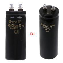 Tornillo de aluminio de 50V, 47000UF/MFD, condensador electrótico de filtración de Audio, 105 Celsius, envío directo