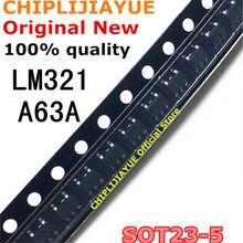 20 pces lm321 SOT23-5 a63a sot23 lm321mfx sot-23 smd novo e original chipset ic