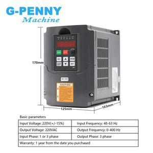 Image 4 - Frezowanie CNC wrzeciono 2.2kw ER20 wrzeciono chłodzone powietrzem 4 łożyska 24000 obr./min chłodzenie powietrzem i 2.2kw falownik VFD i wspornik wrzeciona 80mm