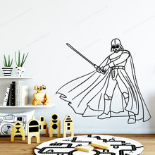 star wars Wall Decal movie removable art mural boys room wall decor home decoration JH375 star wars vinyl wall sticker kids room wall decal game play room wall decor removable wall art mural jh363