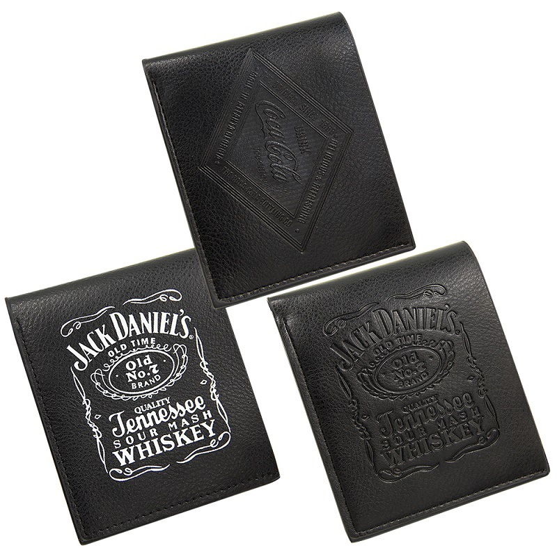 Hot Selling European And American-Style Hot Men's Short Wallet Pu Black Men's Short Wallet Jack Daniels