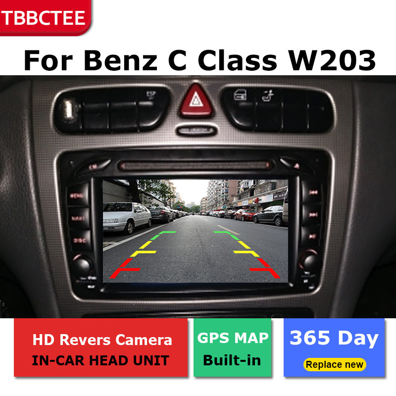 Android Car GPS Navigation For Mercedes Benz C Class W203 2001 2004 Car dvd player BT RDS Mlutimedia player Navi 2Din WiFi in Car Multimedia Player from Automobiles Motorcycles