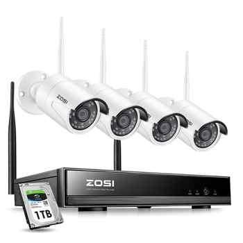 Zosi 8ch sistema de cctv sem fio h.265 + 1080p nvr 2ch/4ch 2mp IR-CUT ao ar livre cctv câmera ip sistema segurança kit vigilância vídeo