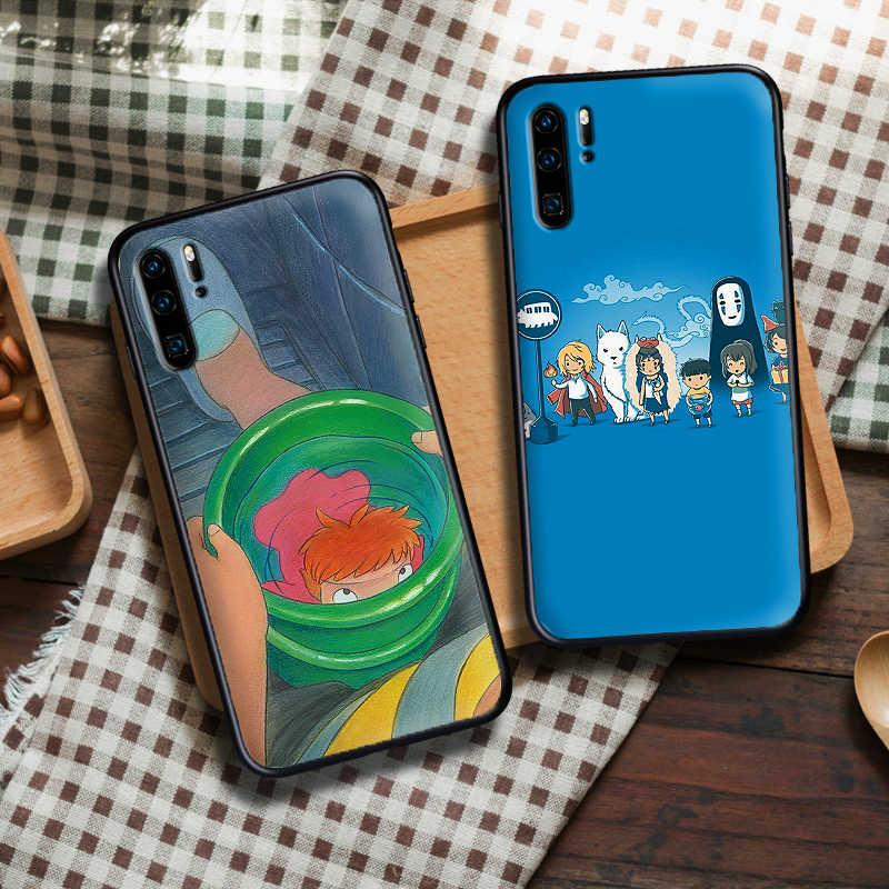 Anime Ponyo trên vách đá và cậu bé Dành Cho Huawei P8 P9 Mini P10 P20 2019 P30 LITE dành cho Huawei P Smart Z 2018 P20 Pro Coque Funda