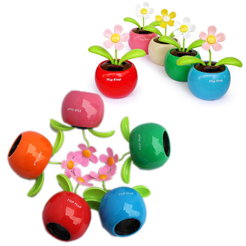 1Pcs Creative Funny Solar Powered Dancing Flower Swinging Toys Vibrant Fashion Automobile Dashboard Family Balcony Decoration