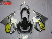 New ABS Fairing Kit For Honda CBR600F F4 1999-2000 Injection Motorcycle plastics 99-00 Gloss Silver Bodyworks