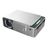 T6 HD LED Projector 1280x720p Optional Android 7.1.2 Portable HDMI USB 1080p Home Theater Projector Bluetooth WIFI US Plug|Conference System| |  -