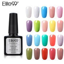 Elite99 10 Ml Satu Langkah Gel Polish Semi Permanen Cat Kuku Uv Gel Lacquer 3 In 1 Tidak Perlu Top base Coat Murni Warna Gel Varnish(China)