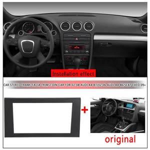 2 samochodowy odtwarzacz stereo din Frame Facia Trim instalacja zestaw ze szkieletem dla Audi A4 B7 2002-2008 dla Audi A4 B6 2002-2006 dla SEAT Exeo 2009 +