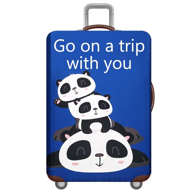 HMUNII карта мира, дизайнерский защитный чехол для багажа, Дорожный Чехол для чемодана, эластичные пылезащитные Чехлы для 18-32 дюймов, аксессуары для путешествий - Цвет: F-Luggage cover