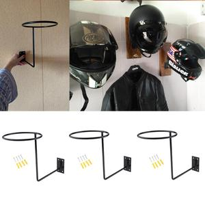 Image 1 - 3Pcs Universal Aluminum Motorcycle Accessories Helmet Holder Hanger Rack Wall Mounted Hook for Coat Hat Cap Helmet Rack Black