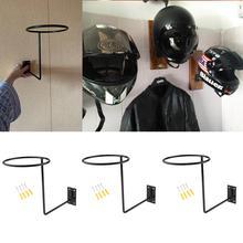 3Pcs Universele Aluminium Motorfiets Accessoires Helm Houder Hanger Rack Wandmontage Haak Voor Jas Hoed Cap Helm Rack Zwart