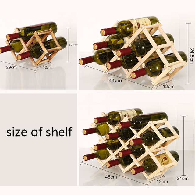 Collapsible Wooden Wine Rack 5