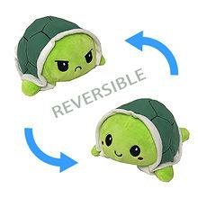 Aleta tartaruga brinquedo de pelúcia recheado com raiva flip feliz brinquedos macio bonito duplo-face colorido animal boneca popular crianças presentes venda quente