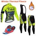 2019 Maillot Ropa Ciclismo Invierno Tinkoff зимний комплект велосипедной одежды из флиса с длинными рукавами, велосипедная одежда